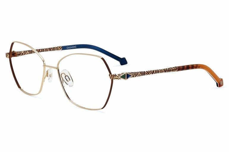 Brille mit Seide